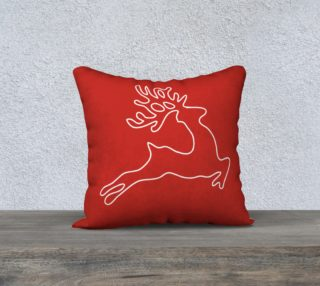 reindeer pillow red preview
