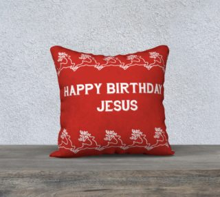 happy birthday jesus pillow preview