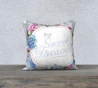 Aperçu de Sweet Dreams Blue PInk Floral Wreath