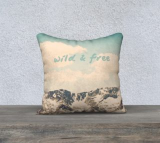 Wild and Free Pillow preview