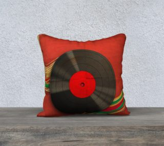 Retro record pillow preview