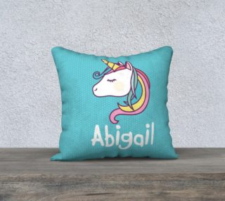 Unicorn personalized pillow preview
