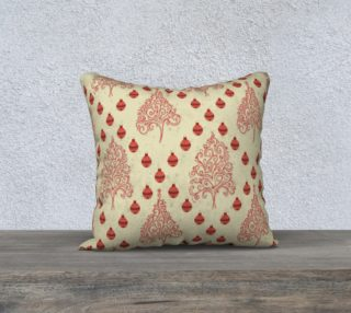 Vintage Christmas tree pillow cover preview