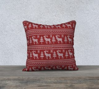 Classic Reindeer Christmas pillow preview