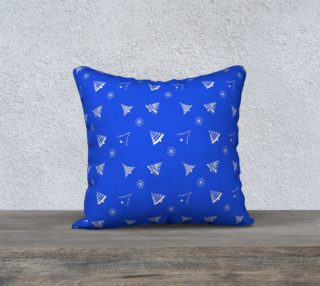 Christmas blue pattern preview