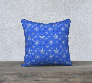 Christmas holiday snowflakes blue pattern preview