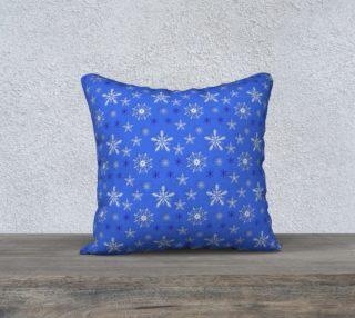 Aperçu de Christmas holiday snowflakes blue pattern