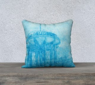 """The Sudbury Water Tower Blue 18"""" x 18"""" Pillow Case preview"""