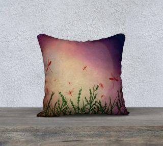 Twilight Dragonflies pillow preview