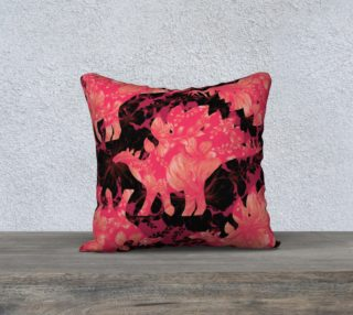 Aperçu de Jurassic Pillow - Pink & Black 18
