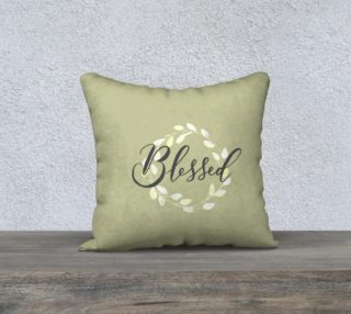 Aperçu de Blessed Pillow 18x18