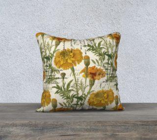 """Aperçu de Vintage marigolds 18"""" x 18"""" Pillow Case"""