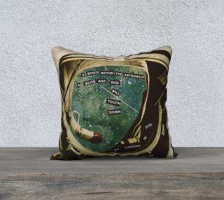"Aperçu de Moon Age Bug 18"" x 18"" Pillow Case"