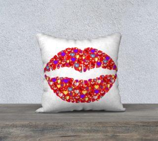 Love & Kisses 18 x 18 Pillow Case preview