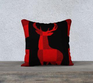 Christmas Lumberjack Red Deer Silhouette preview