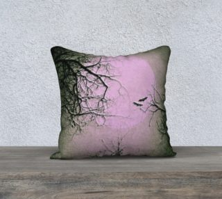 Pink and Black Night Sky Gothic Pillow preview