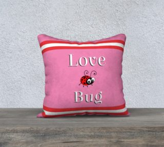 Adobrable Pink & Red Love Bug Pillow with Lady Bug preview