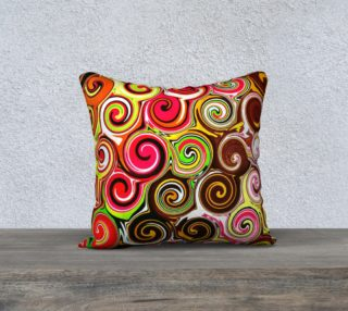 Swirl Me Pretty Square Throw Pillow Cover preview