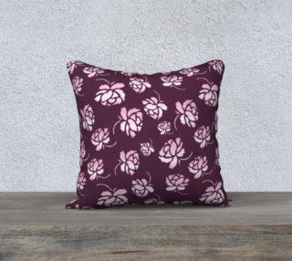 Aperçu de Retro floral burgundy pattern.