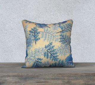 Blue Ferns 18x18 Pillow Case 1950 vintage pattern preview