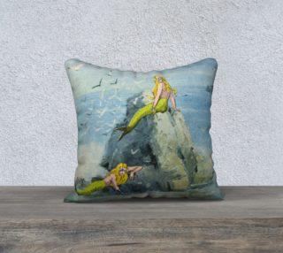 "Aperçu de Darwin's Mermaids 18"" x 18"" Pillow Case"