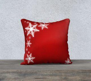 Aperçu de Winter Snowflakes Red Christmas