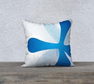 Retro blue pillow preview