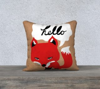 The Fox Says Hello Pillow preview