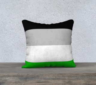 AND Stripes 18x18 Pillow Case black gray white green preview