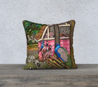 Peacocks in Beacon Hill Park Pillow preview