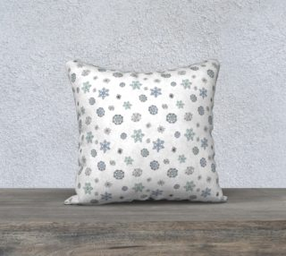 "Snowflakes Pillow Case - 18""x18"" preview"
