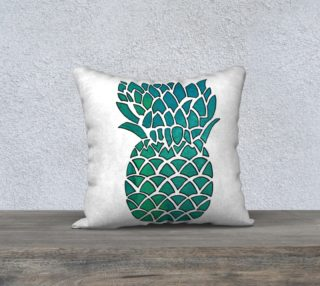 Teal Watercolor Pineapple preview