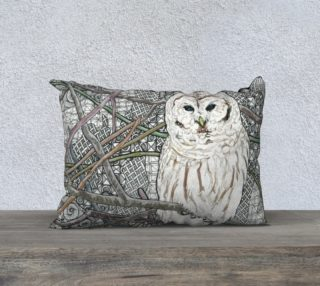 Barred Owl Pillow preview