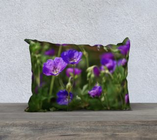 Purple Cranesbill 20x14 Pillow Case preview
