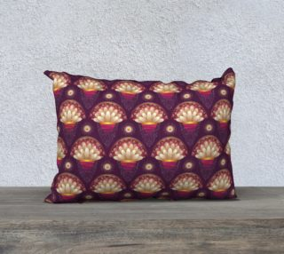 Purple and Beige Scallops Pillow Case 20x14 preview