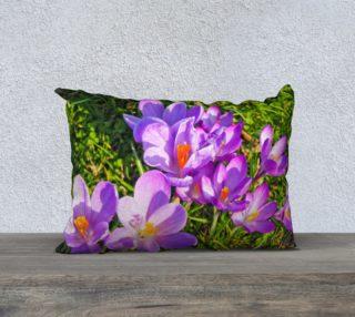 Purple Spring Crocus Pillow Case 20x14 preview