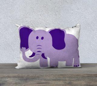Purple Elephant Pillow Case 20x14 aperçu