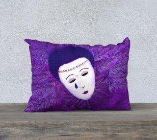 Purple Festival Sad Clown Mask 20 x 14 Pillow Case preview