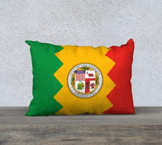 LA Flag Pillow 20 x 14 preview