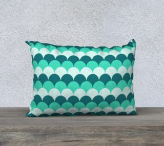 """Mermaid Scales Pillow Case - 20""""x14"""" preview"""