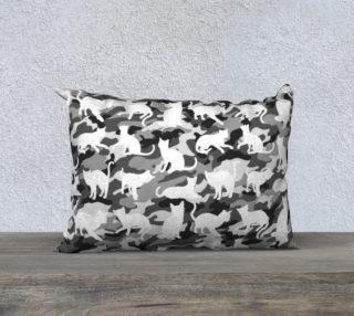 Aperçu de Black and White Arctic Snow Cat Catmouflage Camouflage