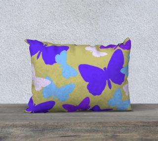 Purple Butterflies Pillow Case 20 x 14 preview