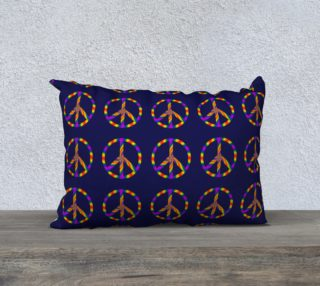 Rainbow Peace Sign 20x14 Pillow Case preview