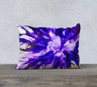 Abstract Purple Flower Alcohol Ink Art  preview