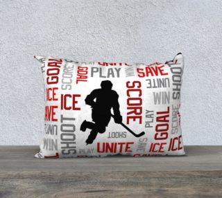 """For the Love of Hockey - Red Pillow Case - 20""""x14"""" preview"""