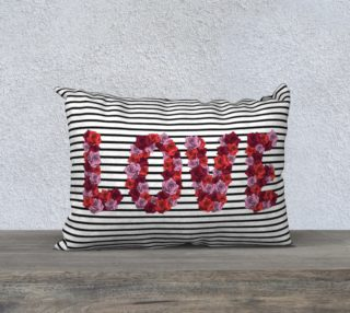 """Blooming Love Pillow Case - 20""""x14"""" preview"""