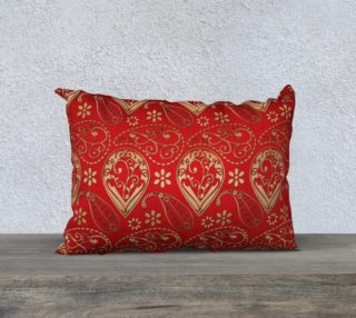 Aperçu de Persian Paisley Red and Gold Pattern