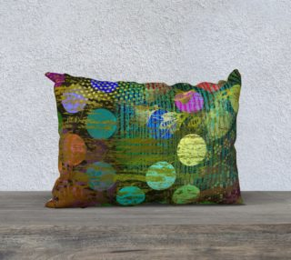 Abstract Multcolored Dots Throw Pillow preview