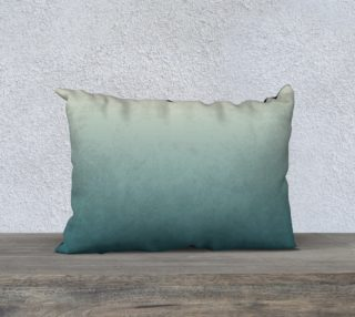 Cream to Green Pillow Case 20 x 14 preview