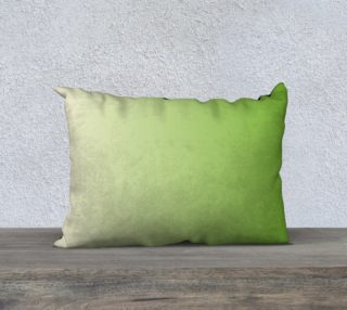 Lime Green and Cream  Rectangle Pillow Case 20 x 14 preview